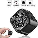 HUNDAN Mini cámara, 1080P HD Grabador de vídeo Digital portátil, visión Nocturna automática, ángulo de visión de 75 °, Apto para Uso Interior y Exterior