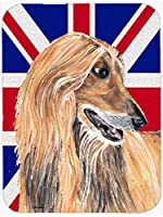 Caroline's Treasures SC9814MP Afghan Hound with English Union Jack British Flag Mouse Pad, Hot Pad or Trivet, Large, Multicolor [並行輸入品]