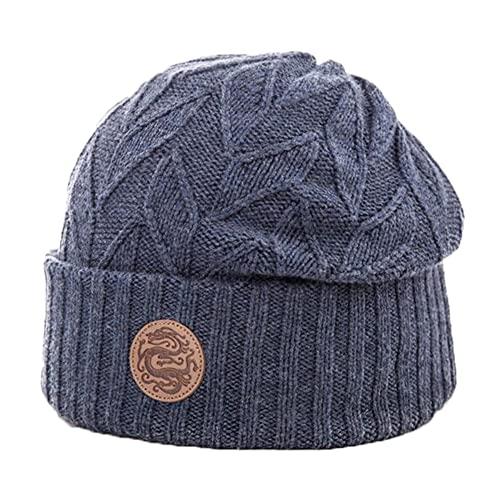 Marca Amazon – Hikaro - Gorro para hombre con forro polar suave y cálido gorro de invierno sombreros térmicos para correr peltre