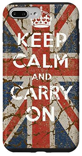 iPhone 7 Plus/8 Plus Keep Calm and Carry On with UK Flag Case