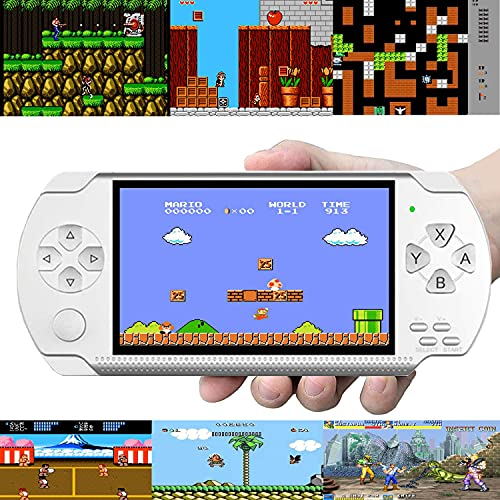 Handheld Game Console, Built-in 1000+ Not Repeating Classic Games, 8GB 4.3 Inch LCD Color Screen, MP3 MP4 MP5 Player with Camera, Suitable for gba/gbc/SFC/fc/SMD Games, Support TV Output