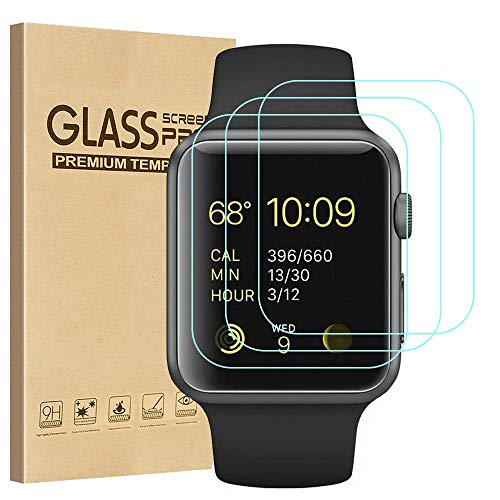 Tourist [3 Pack] Compatible for Apple Watch Tempered Glass Screen Protector...