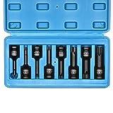 CASOMAN 1/2' Triple Square Spline Bit Socket Set, Chrome-Molybdenum Steel, |...