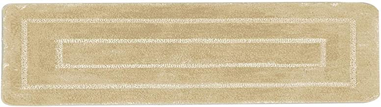 "Luxury Home Collection Soft Microfiber Extra Long Non Slip Bath Rug Mat/Runner 20"" x 60"" (Runner, Beige)"