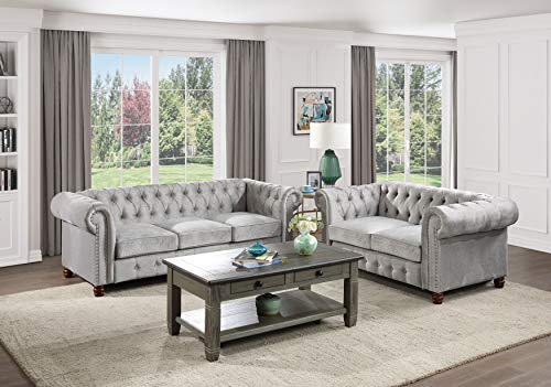 Lexicon Boswell Piece Gray 2 Living Room Set