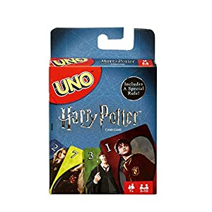Now you can play UNO in the company of your favorite Harry Potter characters! Same gameplay as Basic UNO but features images of Hermione, Harry, Ron, and other characters from the magical world of Harry Potter! The goal is to get rid of all the cards...
