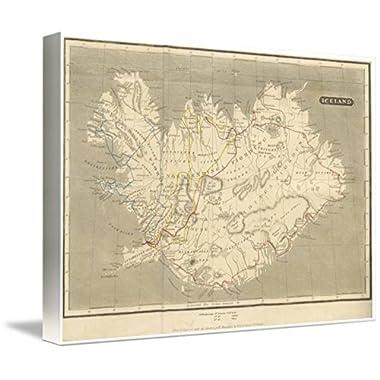 Imagekind Wall Art Print entitled Vintage Map Of Iceland (1819) by Alleycatshirts @Zazzle | 10 x 7