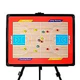 IYBY Stand-Basketball-Taktik-Brett-Trainer-Brett - Wiederbeschreibbar - Stark Magnetisch - Einfach Zu Tragen Und Wiederzuverwenden -