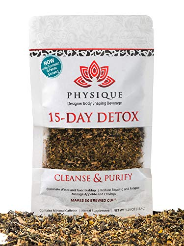 15 Day Natural Weight Loss, Detox and Cleanse Tea | Bloating Relief Total Tea for Appetite Suppressant | Garcinia Fitness Tea | Anti-Inflammatory and No Harsh Laxatives Teatox | Detox Diet Included