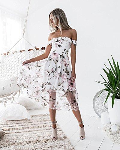 SYT Dress Frühling und Sommer Mode Temperament Damenbekleidung, eine gedruckte Eugen Gaze Kleid, L, a