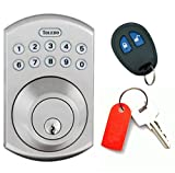 TOLEDO Electronic Door Lock Deadbolt with Remote and Keypad, Convenient Keyless Entry for Quicker, More Secure Residential Access, Anti-Bump Security and Backlit Keys (Satin Nickel)