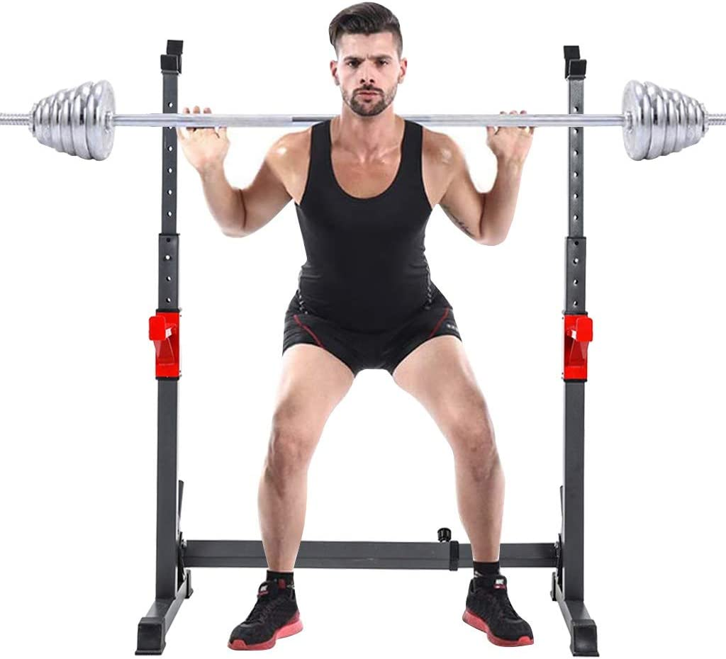 SINGLY Many popular brands Squat Now on sale Rack Multi-Function Height Adjustable Barbell