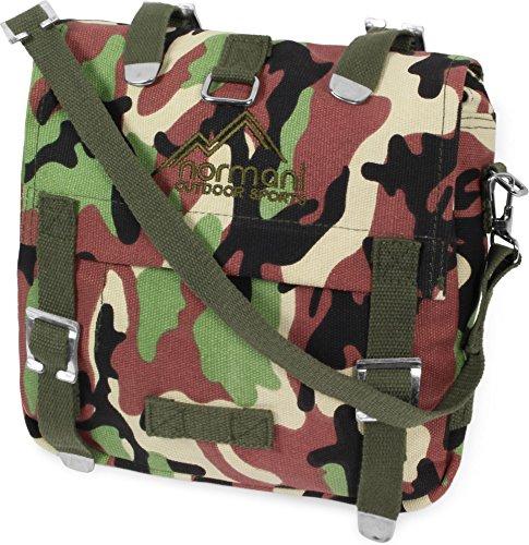 BW Kampftasche klein Umhängetasche Canvas Bag in vielen Farben Farbe Woodland