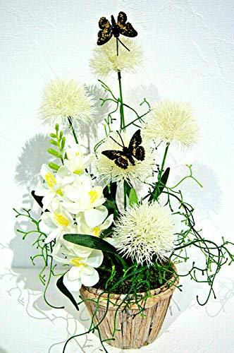 Exklusiv Pusteblumen Kunstblume Tischdeko Deko Dekoration Arrangement Gesteck (LM 58-08)