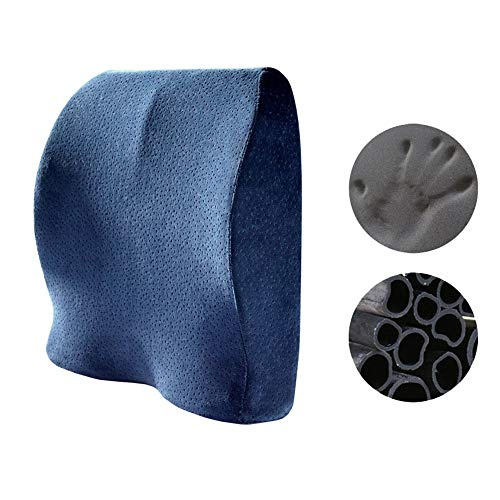Back Cushion For Best Lower Back Support Seat Cushion Comfort Bamboo Charcoal Memory Foam Orthopedic Chair Pillow Back Pain Relief Sciatica Tailbone Pain Back Support Seat Cushion Office Car Sitting P