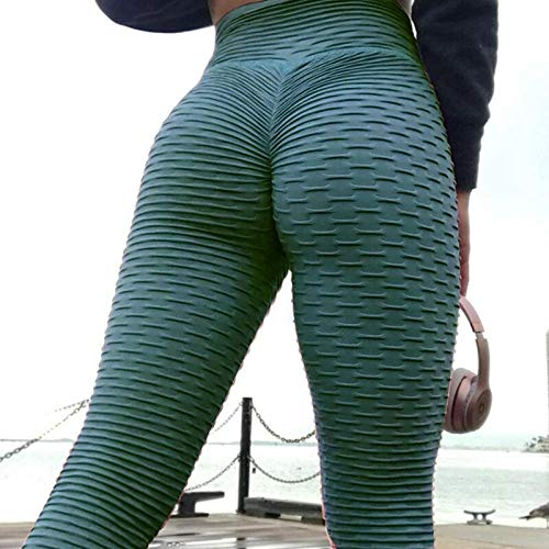 B/H Mujer Cintura Alta Pantalones Deportivos,Mallas para Running Training,Pantalones de Yoga de Cintura Alta Leggings de Estiramiento Alto Leggings de Fitness-E_XL #