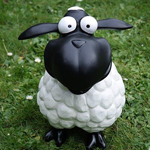 Schaf Molly Weiß Tier Lamm Tierfigur Bunt Dekofigur Deko Garten Ostern