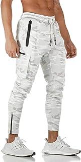 MakingDa Men's Sports Jogger Trousers with Zip Pockets Drawstring Breathable Running Training Pants Slim Fit Sweatpants Bo...
