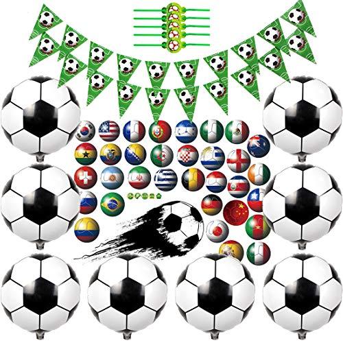 Kreatwow Decoraciones para Fiestas de fútbol Suministros para niños Green Soccer Pennant...