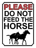 馬に餌を与えないでください 金属板ブリキ看板警告サイン注意サイン表示パネル情報サイン金属安全サイン