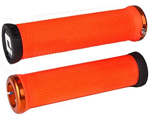 Odi Elite Motion Grips - Orange/Orange/Locking Clamp Handle Bar Part Mountain Biking Bike MTB Riding Ride Trail Enduro Downhill Hand Comfort Handlebar Rubber DH Accessories