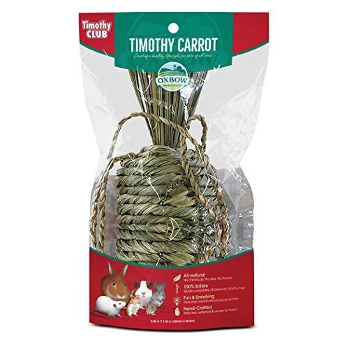 OXBOW Animal Health All Natural Woven Hay Timothy Club Carrot Fun Pet Habitat