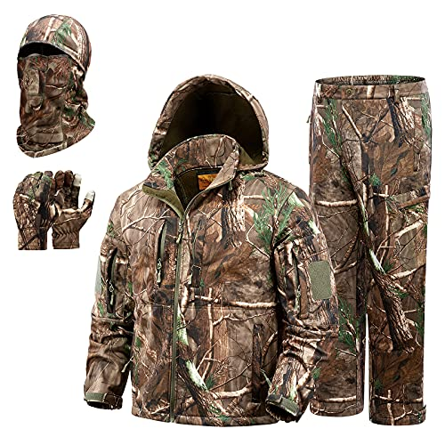 NEW VIEW Hunting Clothes for Men,Silent Water Resistant Hunting Duck Deer Hunting Jacket and Pants