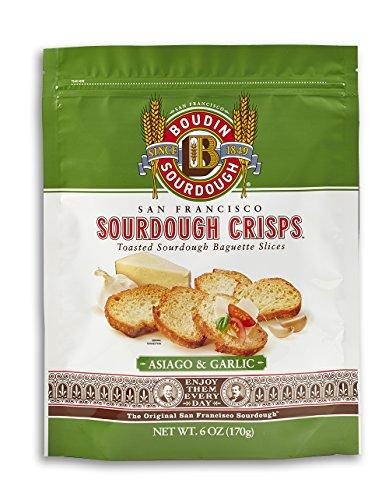 San Francisco Boudin Bakery Sourdough Crisps-Asiago & Garlic