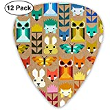 Elizabeth Hartman Fancy Forest Quilt Kit Kona Colorful Guitar Picks Convient pour guitare acoustique guitare électrique basse