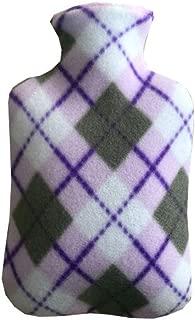 湯たんぽシングルフリースarge布カバー水で満たされた暖かい水袋フランネルバッグ英国スタイルパターン2000ml
