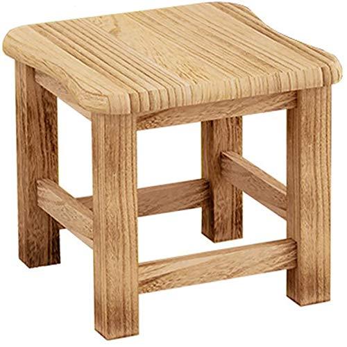 Notable Kinder Holzhocker, multifunktionaler massiver Holzhocker Sitz, 10 '' Höhe Kinder Hartholz Fußhocker für Küche Schlafzimmer Klassenzimmer Badezimmer