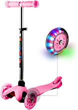 Hikole Scooters for Kids & Toddlers 3 Wheel Scooter Great for Girls & Boys Kid Ride on Toys - 4 Adjustable Height & PU Flashing Wheels for Preschool Kids Ages 2-9