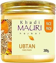 Khadi Mauri Herbal Ubtan Face Pack - Skin Lightening & Tan Removal - Ancient Ayurvedic Healing - Enriched with Turmeric - 200 g
