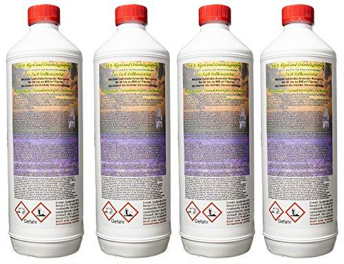 A.K.B. Algenentferner, Grünbelagentferner 60-Fach Vollkonzentrat 0944. (4 Liter (Flaschen)), Fassadenreiniger fassadenschutz