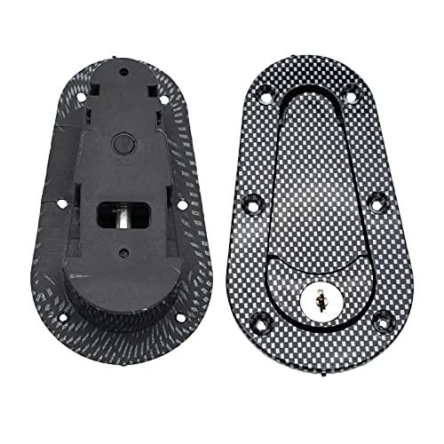 CHANGshui Carrera de fibra de carbono Bonnet de automóvil Bonete de cierre rápido Capilla de bloqueo Pin del pestillo con llaves de parachoques de parachoques Captura de hebilla Clips Kit de abrazader