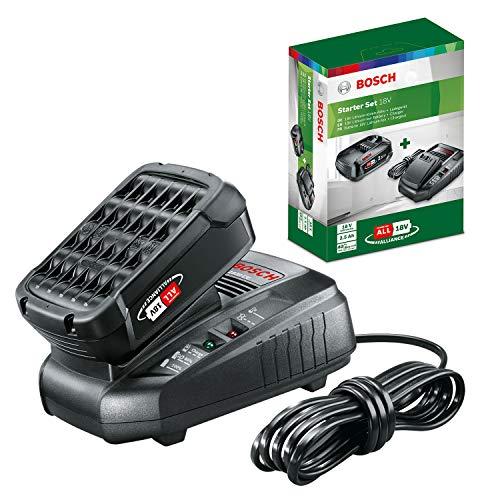 Kit de démarrage Bosch - Pack batterie et chargeur pour outils sans fil 18 V (1X batterie 2,5 Ah, 1 X chargeur classique)
