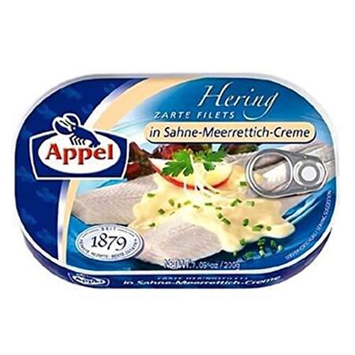 Appel zarte Heringsfilets in Sahne-Meerrettich-Creme