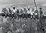 Pyramid America Charles Ebbets Workers Lunch ATOP A Skyscraper Black White Photo Cool Wall Decor Art Print Poster 36x24
