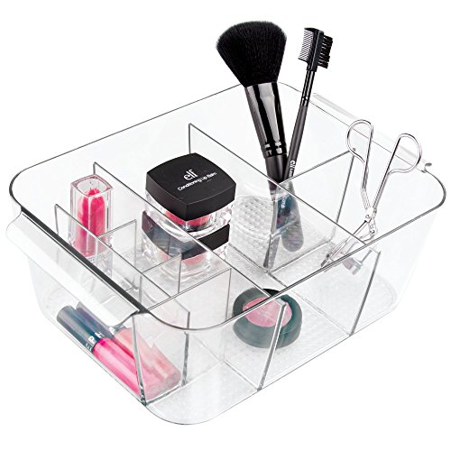 Price comparison product image InterDesign Cosmetic Makeup Caddy,  for Storage Organization of for Health and Beauty supplies such as Lipstick,  Nail Polish,  Hair Clips,  Jewelry,  Clear