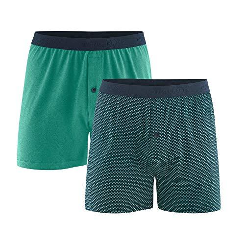 Living Crafts Boxer-Shorts, 2er-Pack XXL, Navy/Evergreen