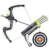 SainSmart Jr. Archery Kids Bow and Arrows Bogenschießen-Set für Kinder, Outdoor-Jagdspiel mit 5 robusten Saugnapf-Pfeilen, leuchtendem Bogen und Sichtgerät, grün