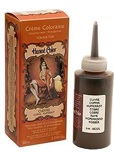 Tinte de henna para el cabello, color rojo intenso, 90ml, de Henne Color