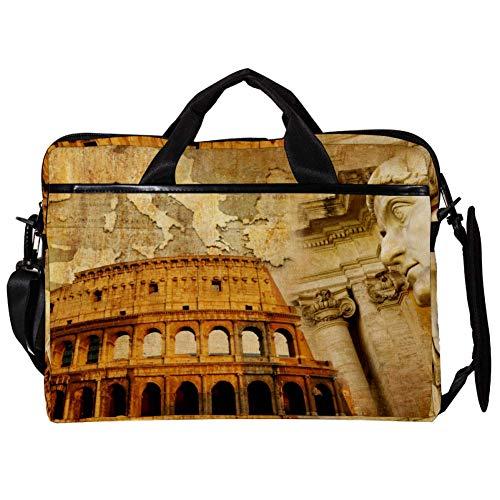 TIZORAX Laptop Messenger Schultertaschen Antike römische Architektur Computer Sleeve Notebook-Tragetasche 15-15,4 Zoll Handtasche