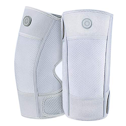 Masajeador de rodilla con calefacción, cinturón de soporte de rodilla con calefacción eléctrica, ajuste de temperatura en tres etapas y velcro, utilizado para aliviar el dolor en las articulaciones