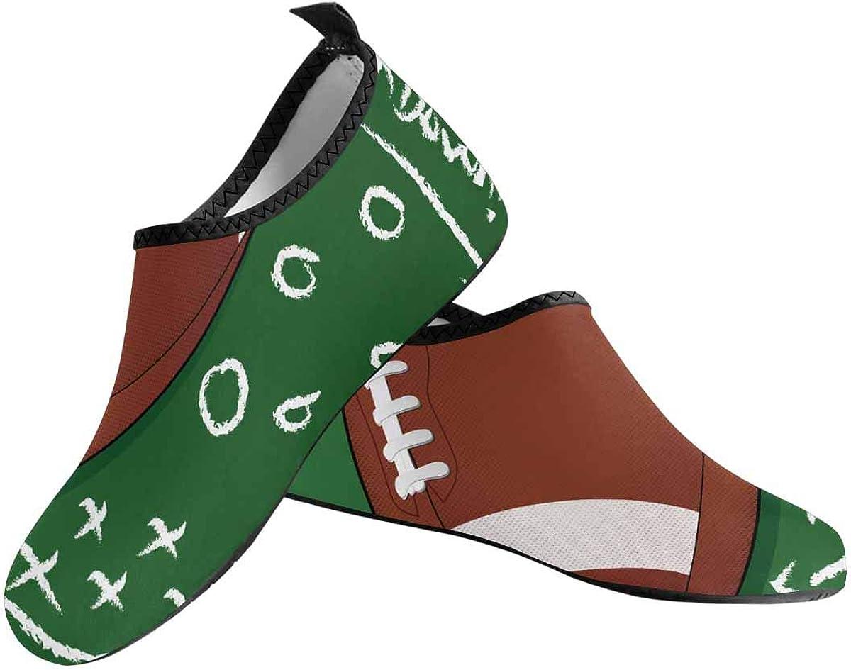 InterestPrint Barefoot Shoes Quick-Dry Aqua Socks for Women US6-US12