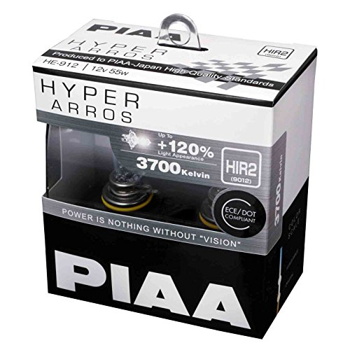 PIAA Hyper Arros HIR2 Auto-Glühlampen +120% (Doppelt Pack) HE912