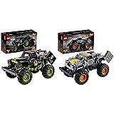 Lego 42118TechnicMonsterJamGraveDigger,Modelo2En1,CamiónDeJugueteOOff-RoadBuggy + 42119 Technic Monster Jam MAX-D, Modelo 2 En 1, Camión De Juguete O Quad Bike, Set De Construcción