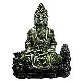POPETPOP Decoraciones del Tanque de Peces de Buda - Tanque de Peces Buda Sentado Estatua Decoraciones del Acuario Reptiles Tanque Ornamento