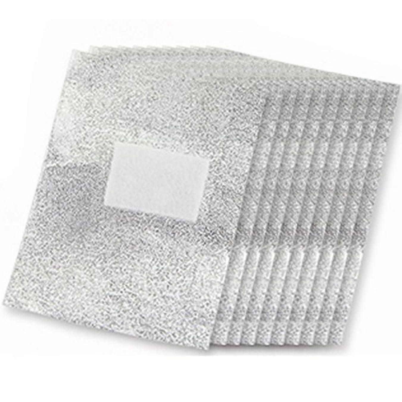 予防接種藤色上へCikuso 100xアルミフォイルネイルアート 浸すアクリルゲルポリッシュネイルリムーバー