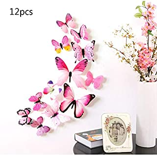 12pcs Creative Butterflies with 3D Stereo Wall Sticker Removable H-023 Butterflies with 3D Stereo Wall Sticker
